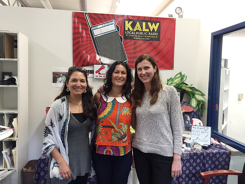 Photo of Kristina Rizga with Rose Aguilar, Aimee Riechel at KALW